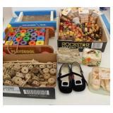 Tinker Toys, Play-stool Cart, Wood Beads