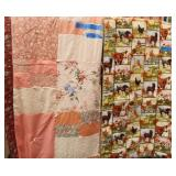Hand Made Quilts & Oval Braided Rug