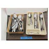Stainless Steel Flatware & Tray