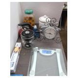 Bathroom Scale, Kitchen Clock, Tea Pots