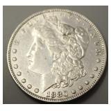 1880 P  Morgan Silver Dollar AU