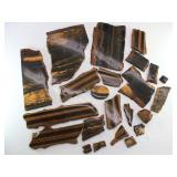 Collection of TIGER EYE Slabs & Pieces