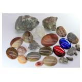 Pyrite Quartz Crystals, Polished JASPER Cabs &