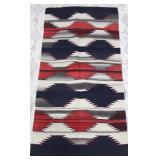 Hand Woven Navajo Fringed Rug / Blanket