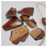 Collection of Bruneau jasper Sliced Rock Specimens