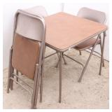 Samsonite Card Table & 4 Chairs