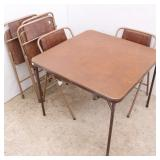 Card Table & 5 Chairs