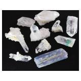 Blue Kyanite & Quartz Crystals
