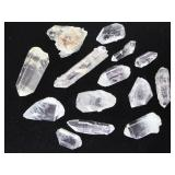 Collection of Natural Clear Quartz Crystals