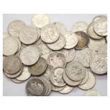 (70) 1946-1964 90% Silver Roosevelt Dimes