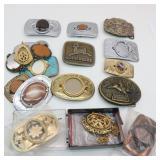 Assorted Belt Buckles, Necklace Chains, Pendants