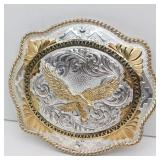 MONTANA SILVERSMITHS Silverplate Eagle Belt Buckle