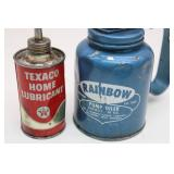 RAINBOW Pump Oiler, Cap 10oz & TEXACO Home
