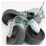 """(4) Caster Wheels (4"""" diam)"""