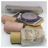 Box of Sandpaper Rolls & Sheets