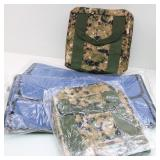 (4) Folding Bag Inserts for 2-Camo Design Bags