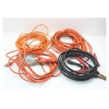 Jumper Cables, Shop Light on Electric Cord and Two
