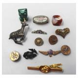 Military Pins, Bobcat Pin, Wing Pins, Marble Owl