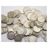 Roosevelt 90% Silver Dimes Face Value $10.25