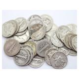 Mercury Dimes 90% Silver Face Value $4.40