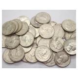 Washington 90% Silver Quarters Face Value $10.00