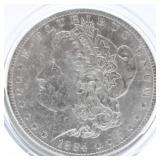 1884 O Morgan Silver Dollar  XF