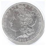 1885 P Morgan Silver Dollar  AU
