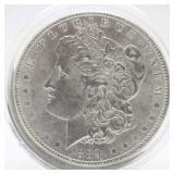 1889 P Morgan Silver Dollar  AU