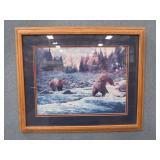 GRIZZLY BEAR Framed Art Print (c) 1986