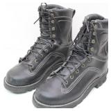 New-DANNER Black Leather Work Boots-Size 9