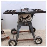 Craftsman 10in Table Saw on Wheels