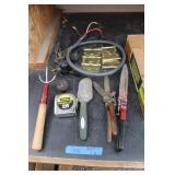 Bargain Lot: 25ft Tape, Adapter Plugs, Yard Tools