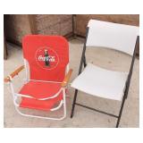 Coca-Cola & Lifetime Folding Chairs