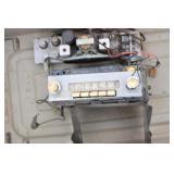 Old Car Radio Parts in Tub