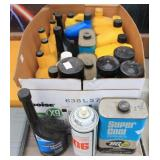 Box of Oil & Misc. Auto Fluid - Penzoil