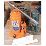 2 Bottle Jacks - 12 Ton & Smaller