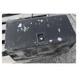 Painted Black Metal Tool Box