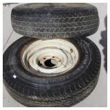 (2) Good Tires -(9.50R16.5 & 7.00-15LT