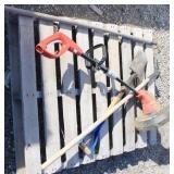 Electric Trimmer, Shovel, Fork & Hoe