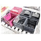 (7) Plastic Carrying /Hauling Crates