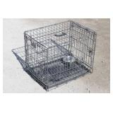 Wire Metal Animal Crate w/bowl