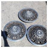 (3)  Classic Buick Wire Spoke Hubcaps