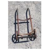 """Vintage Small Metal Dolly 36"""" tall x 12"""" wide"""