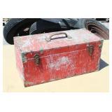 "Vintage Wood Tool Box-Red 20"" Long x 9"" x 9"""