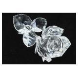 Swarovski Crystal Rose Figurine