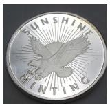 Sunshine Minting One Troy Ounce .999 Fine Silver