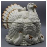 Vintage Harvest Turkey Cookie Jar Hand Painted
