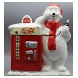 Houston Harvest Coca-Cola Polar Bear Cookie Jar