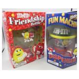Set of 2 M & M Dispensers-Fun Machine &