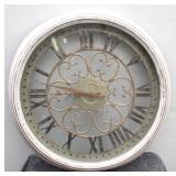 "Fancy Shabby Chic Round Metal & Glass  24"" Clock"
